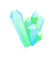 mineral crystalic precious stones crystal gems vector image vector image