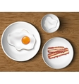 morning breakfast bacon and eggs vector image vector image