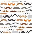 mustache beard face haircut silhouette vector image vector image