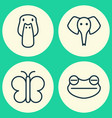 nature icons set collection of duck moth vector image