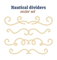 Nautical ropes Dividers set Decorative vector image