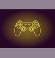 neon icon of yellow joystick vector image