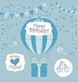 newborn birthday cards its a boy vector image