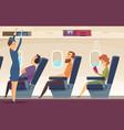passengers airplane stewardess avia service vector image