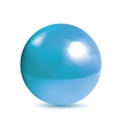 Photorealistic shiny blue orb vector image vector image