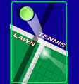 poster lawn tennis vector image