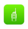 radio icon digital green vector image vector image