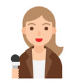 reporter icon profession and job vector image vector image