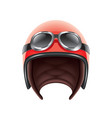 retro aviator helmet isolated vector image vector image