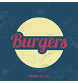Retro Food Sign Vintage Background vector image