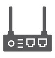 router glyph icon internet and connection wifi vector image vector image