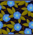 seamless abstract floral pattern blue for girl vector image vector image