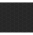 Seamless pattern of overlap black circles vector image vector image