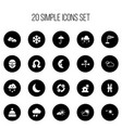 set of 20 editable air icons includes symbols vector image vector image