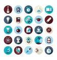 Set of flat design icons with long shadows vector image vector image