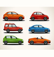 set of realistic vehicles vector image vector image
