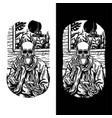 skull drinking coffee vector image