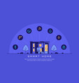 smart house concept flat style banner design vector image vector image
