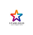 star logo design stock colorful star icon in vector image vector image