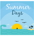 summer days sea beach sky and sunset background ve vector image vector image