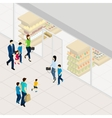 Supermarket Isometric vector image vector image
