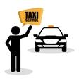 Taxi design Transportation icon Isolated vector image