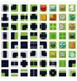 top view Set icons vector image