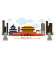 Travel Beijing China vector image