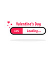 valentine s day loading bar icon vector image vector image