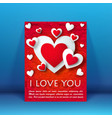 valentines day romantic flyer vector image vector image