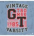 Varsity vintage stamp vector image vector image