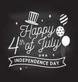 vintage 4th july design in retro style vector image vector image