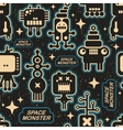 Vintage seamless texture with monsters vector image vector image