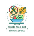 whole food diet concept icon vegetarian nutrition vector image vector image