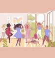women dancing vector image vector image