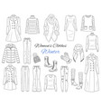 women s clothes collection winter outfit vector image vector image