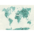 World map in watercolor green vector image vector image