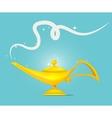 golden magic lamp design vector image