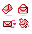 email icons set isolated glossy symbols vector image