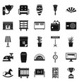 accommodation icons set simple style vector image vector image