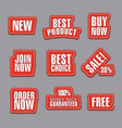 advertising stickers and stripes vector image vector image