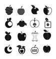 apple icons set design logo simple style vector image vector image