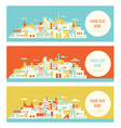 Asian sunny city vector image vector image