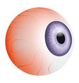 bloody eye ball mockup realistic style vector image