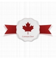 Canada Day greeting red and white paper Banner vector image vector image