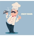 Chef cartoon character vector image vector image