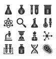chemistry science laboratory glyph icon set vector image vector image