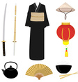 china symbol set vector image vector image