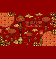 chinese new year vintage greeting template vector image