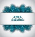 Christmas Border with Blue Fir Branches vector image vector image